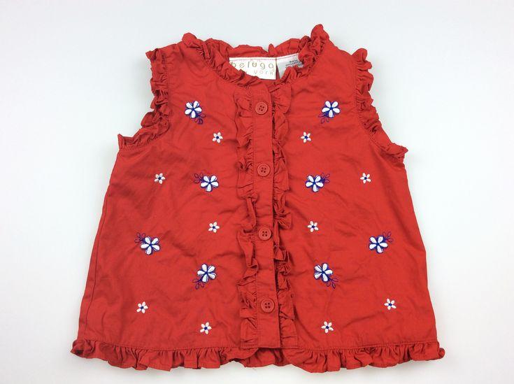 BELUGA New York, girl's sleeveless summer shirt, excellent pre-loved condition, size 2, $7 #girlsfashion #kidsfashion