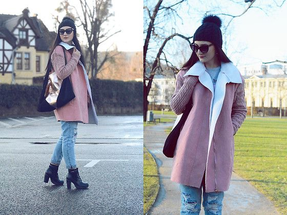 www.cashmere-stories.com  Coat: http://www.shein.com/Pink-Cable-Knit-Sleeve-Faux-Shearling-Coat-p-316440-cat-1735.html?utm_source=cashmere-stories.com&utm_medium=blogger&url_from=cashmere-stories
