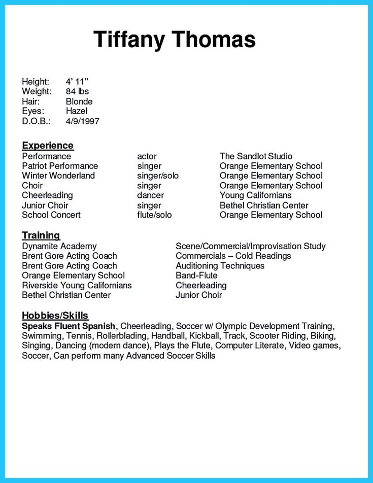 the 25 best acting resume template ideas on pinterest good