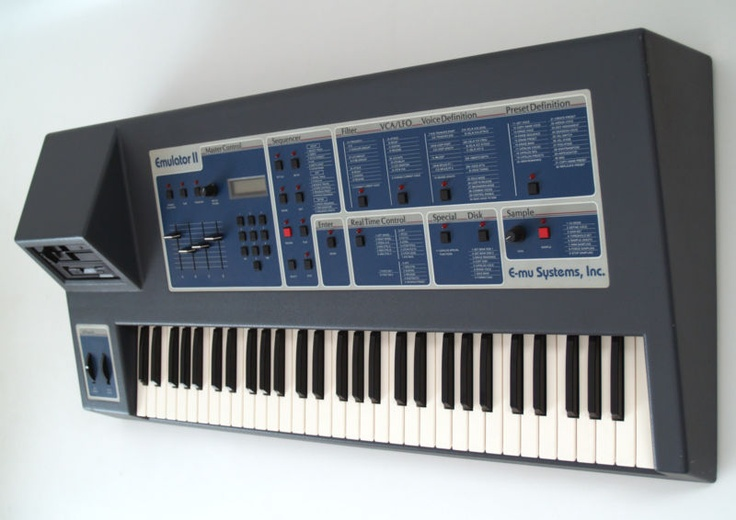 e mu systems emulator ii synthesizers drum machine vintage music music instruments. Black Bedroom Furniture Sets. Home Design Ideas
