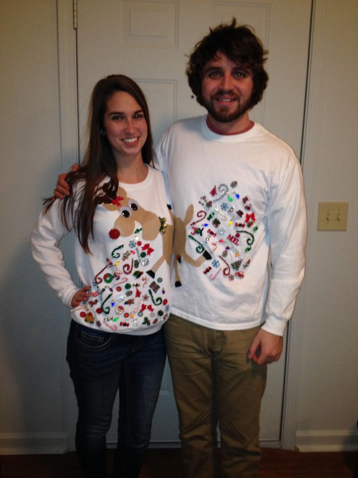 Pekatees Pocket Santa Sweatshirt Off Shoulder Xmas Sweater Holiday Tacky Funny Party