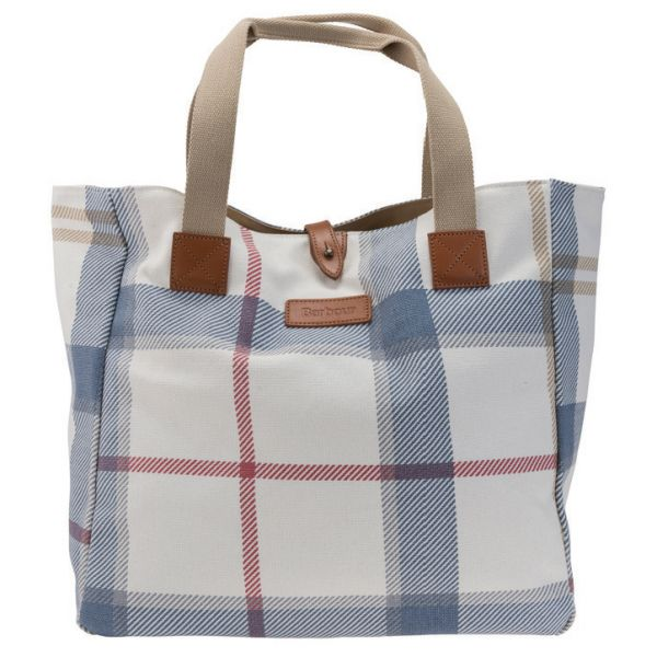 This is so fresh for Spring/Summer! Barbour Summer Dress Tartan Tote Bag - £79.95 | Barbour Bags