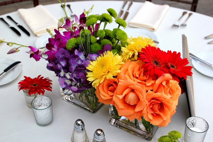 Vase Centerpiece Zip : Best rainbow wedding centerpieces ideas on pinterest