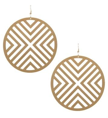 Gold Laser Cut Earrings