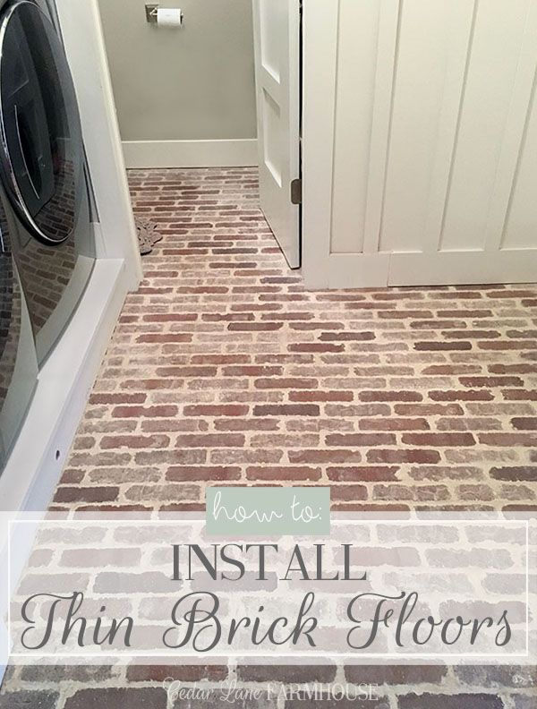 How To Install Thin Brick Floor