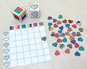 The dice of love: new game to print