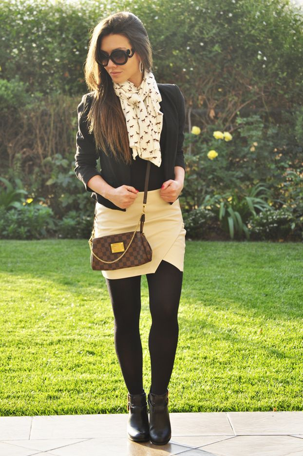 This is exactly the style I'm going for! :D Preppy Winter Look, Eva Clutch from Louis Vuitton