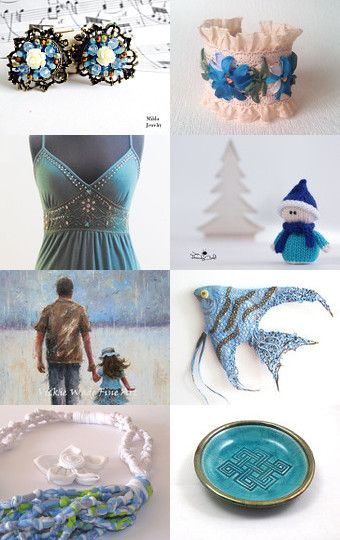 Blue, turquoise and more by Anna on Etsy--Pinned with TreasuryPin.com