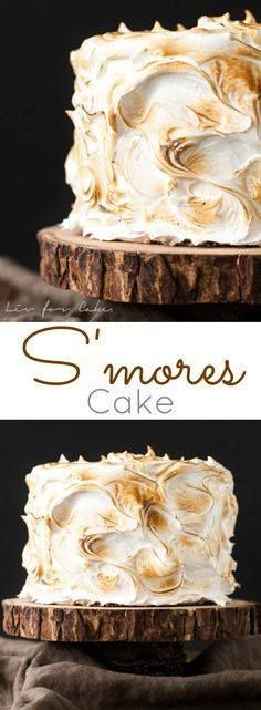 This S'mores Cake is This S'mores Cake is better than the real...  This S'mores Cake is This S'mores Cake is better than the real thing! A graham cracker cake filled with a whipped milk chocolate ganache and topped with toasted marshmallow fluff. | livforcake.com Recipe : http://ift.tt/1hGiZgA And @ItsNutella  http://ift.tt/2v8iUYW