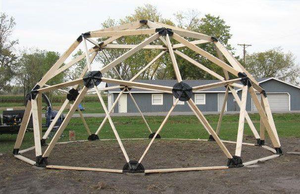 2v 2x4 Wood Geodesic Hub Kit In 2019 Geodesic Dome Geodesic
