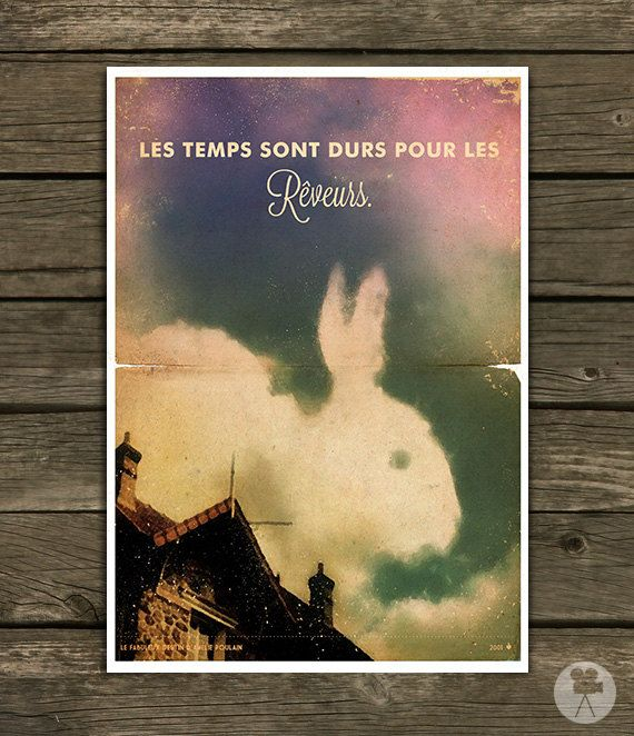 Hey, I found this really awesome Etsy listing at https://www.etsy.com/listing/168025244/amelie-movie-poster-french-quotes