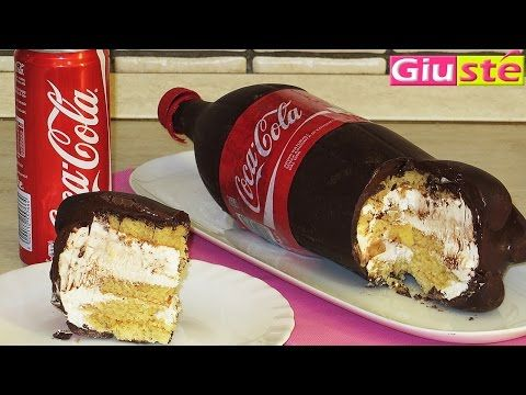 Chocolate Coca Cola bottle tutorial!  In French, but you get the idea.Gâteau façon bouteille de Coca Cola - YouTube