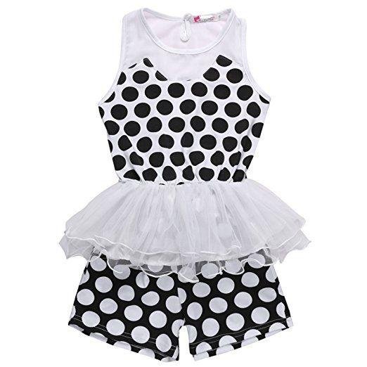 ZEARO Baby Mädchen Kleid und Hosen Sets Ärmellose Abendkleid und Taschen Kurze Hosen: Amazon.de: Bekleidung
