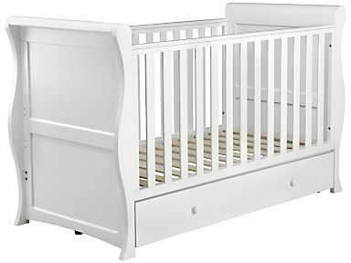 Buy John Lewis Martha Sleigh Cotbed White From Our Cotbeds Range At