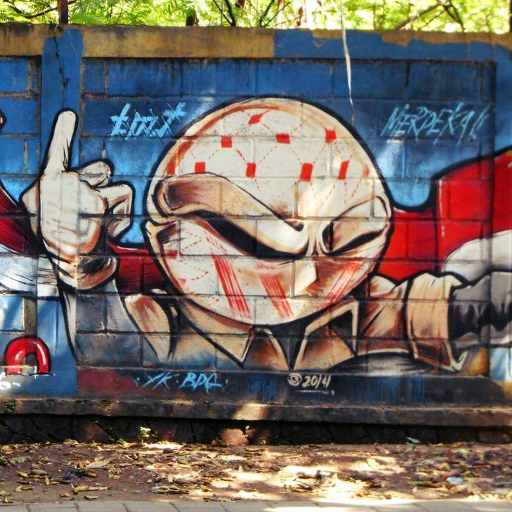 Graffiti yang melambangkan pahlawan