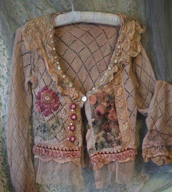reworked vintage cardigan