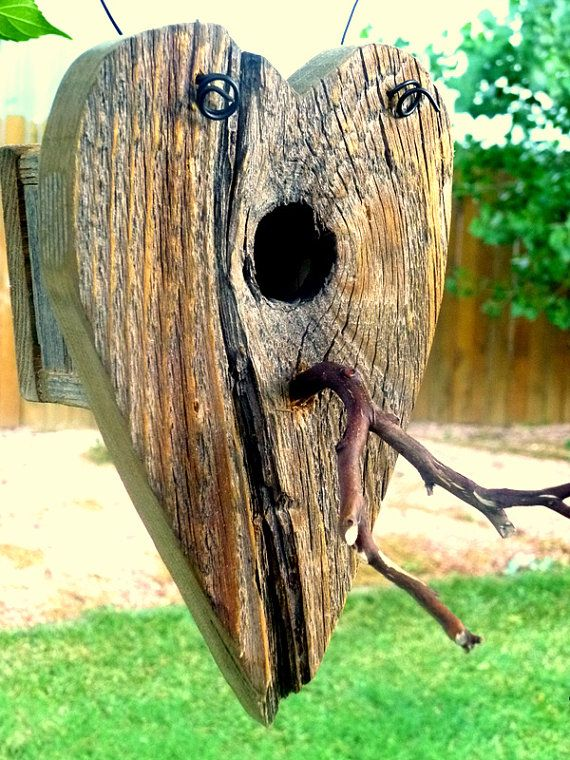 Wow - love this heart bird house from Barb Rosen. This would be a great DIY project.