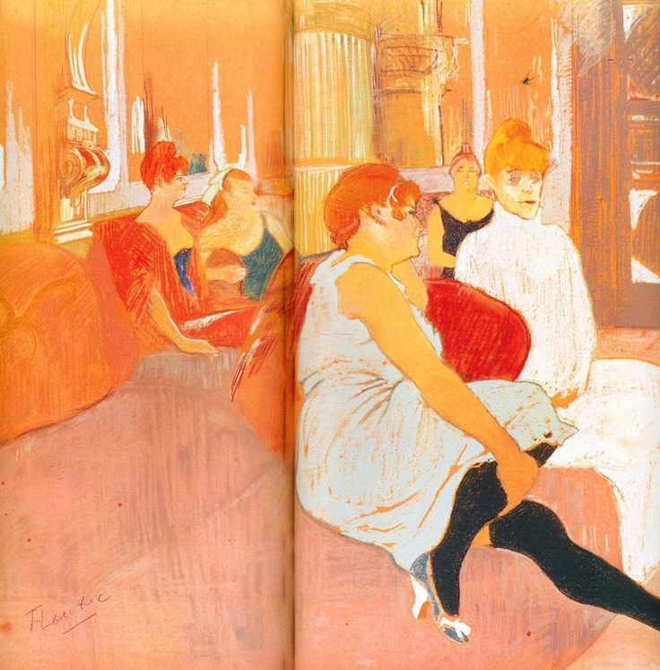 141 best images about toulouse lautrec on pinterest - Toulouse lautrec au salon de la rue des moulins ...