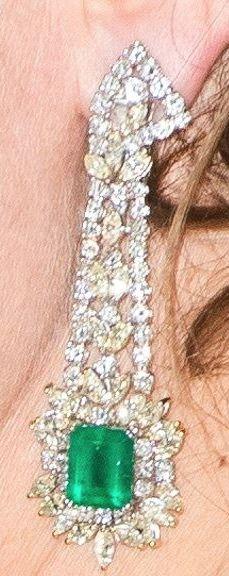 Diamond & Emerald Drop Earrings