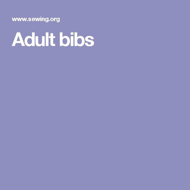 Adult bibs