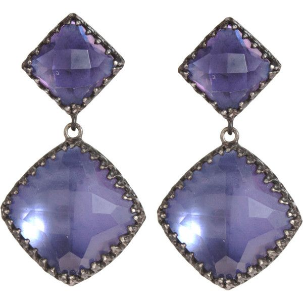Larkspur & Hawk Marly Two-Drop Earrings ($1,800) ❤ liked on Polyvore