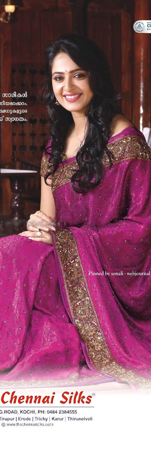 Anoushka in Chennai silk saree