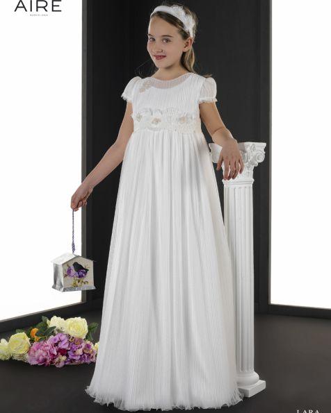 Lara vestido de comunión corte evasé
