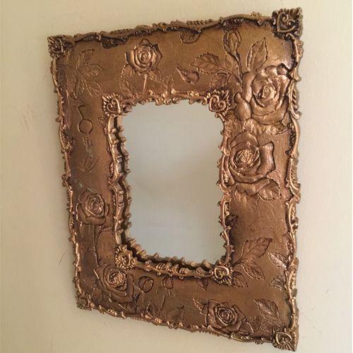 Çiçekli Desenli Ayna