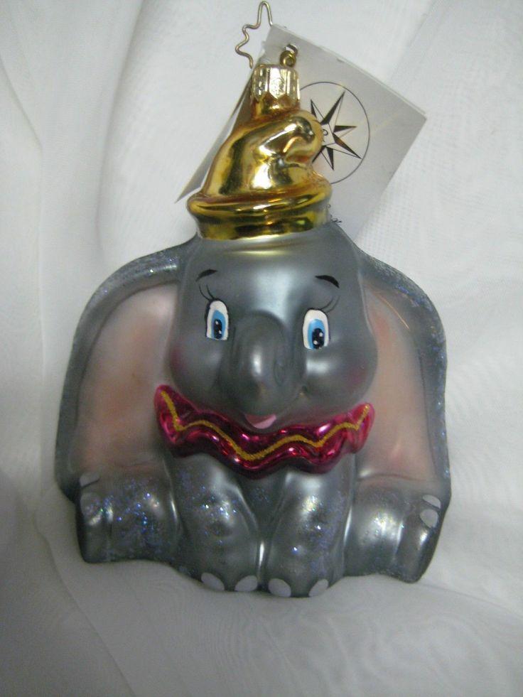 christopher radko disney dumbo the elephant ornament new