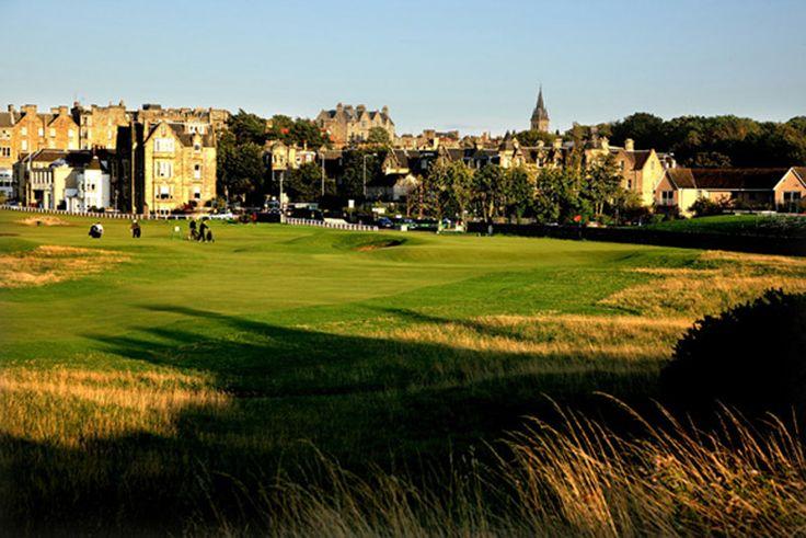 Golf course in Scotland. Golfbaan in Schotland.