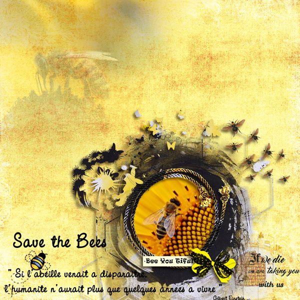 Kit Save The Honey Bee de Perline Designs, photos Pixabay