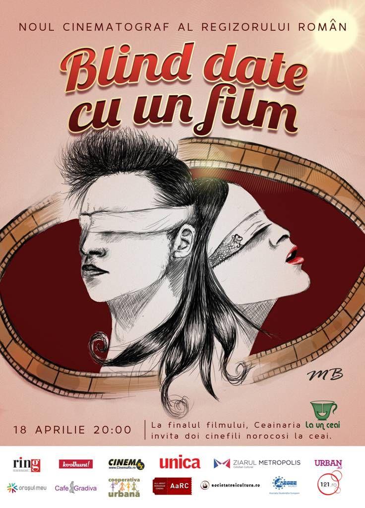 Noul Cinematograf al Regizorului Român vă propune o seară de film cu un concept inedit şi vă invită la un blind date cu un film, în data de 18 aprilie, la ora 20:00. La sfârşitul filmului, doi cinefili norocoşi vor câştiga o seară ca în filme, din partea Ceainăriei La Un Ceai