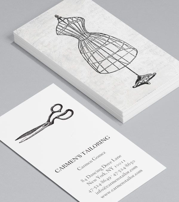 Get me to the ball: Business Cards for fashion designers and professional…