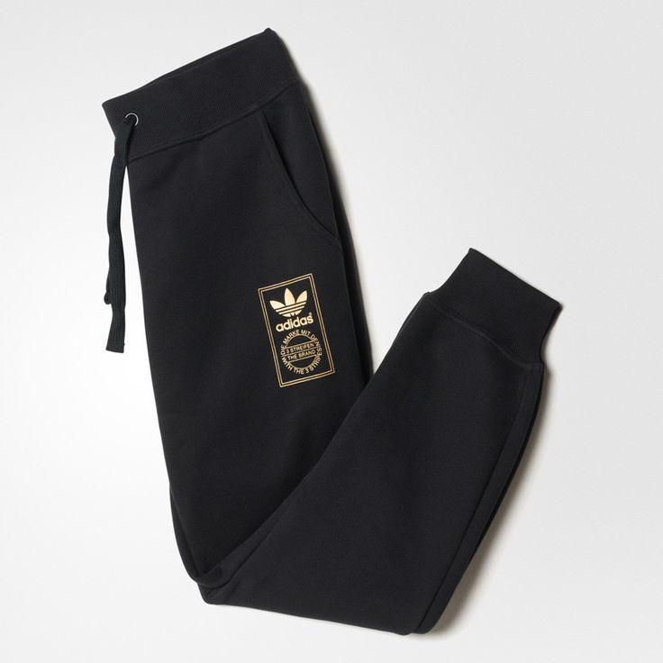 Adidas Origianls Le Gold Track Pant Cuff Black/Gold AB2406 – Famous Rock Shop