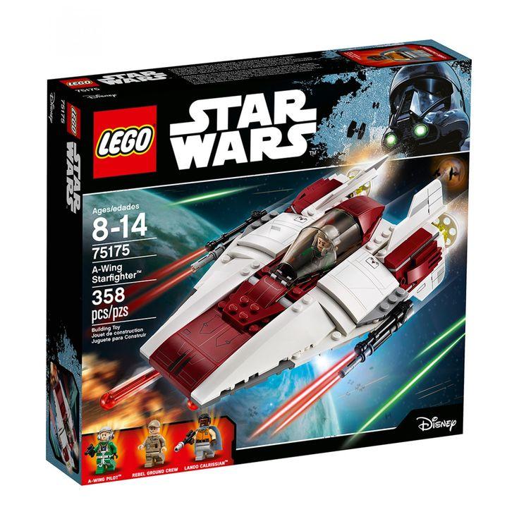 Lego Star Wars A-Wing Starfighter; el Imperio se acerca ¡así que es hora de camuflar el A-Wing Starfighter! usa las herramientas del carro para comprobar si opera bien carga los cañones desengancha la escalera y sube a bordo. ¡Pon en marcha los motores