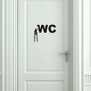 αυτοκόλλητα τοίχου αυτοκόλλητα τοίχου, μοντέρνα εργαζόμενοι διακόσμηση αυτοκόλλητα pvc τοίχο – EUR € 4.74