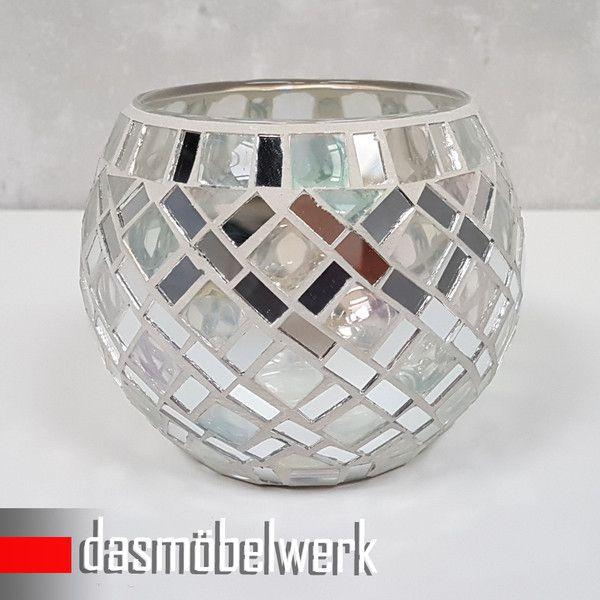 Windlichter - Mosaikglas Windlicht Teelichthalter Deko Kugel 18 - ein Designerstück von dasmoebelwerkgmbH bei DaWanda