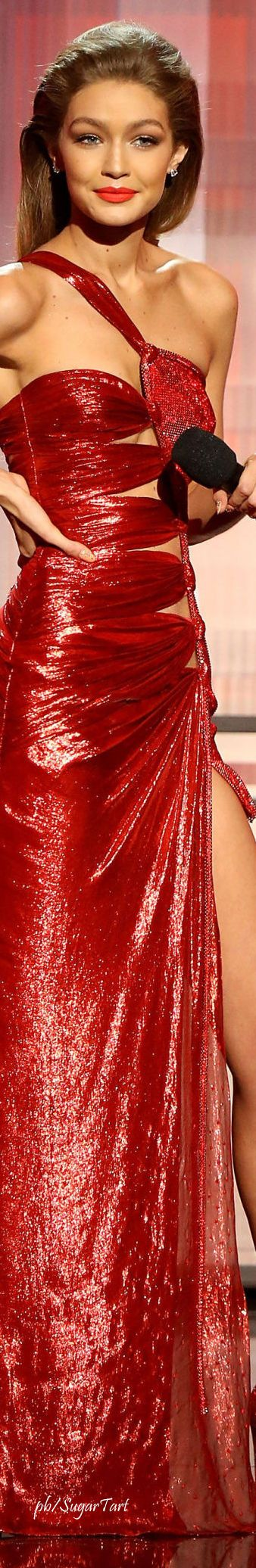 Gigi Hadid - AMA's  ...She apologized...I love the gown...
