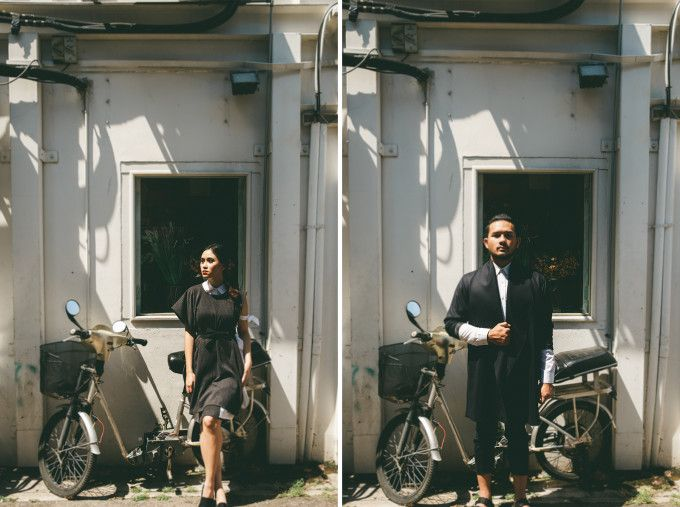 Casual themed engagement photoshoot idea | A Casual Contemporary Pre-Wedding Shoot In Singapore | http://www.bridestory.com/blog/a-casual-contemporary-pre-wedding-shoot-in-singapore