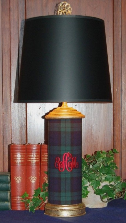 our monogram lamps from brownstone + cottage.