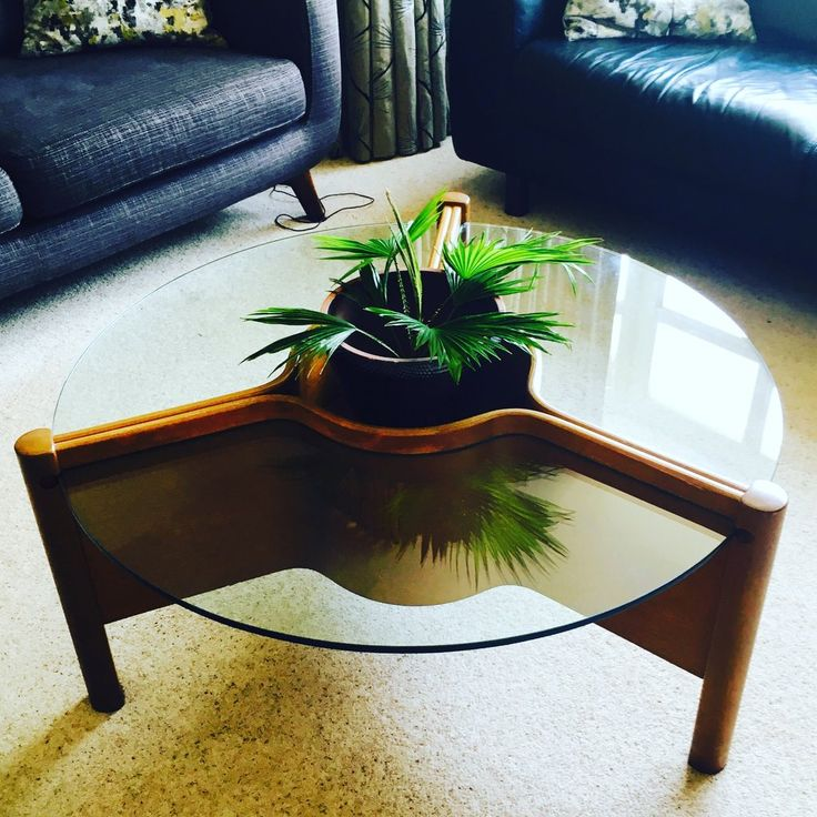 Mid Century, Nathan Teak & Glass 1960s Coffee Table