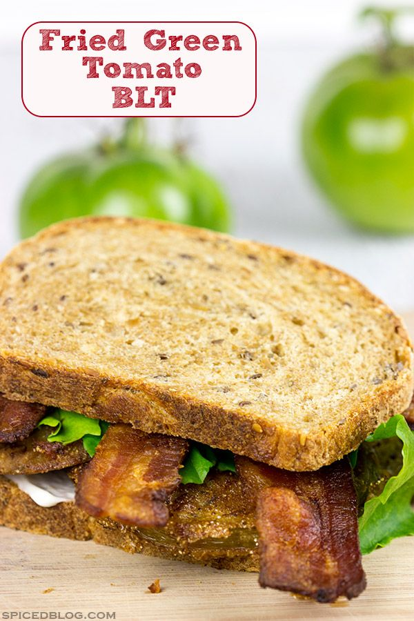 These Fried Green Tomato BLTs are a delicious twist on a classic Southern dish!