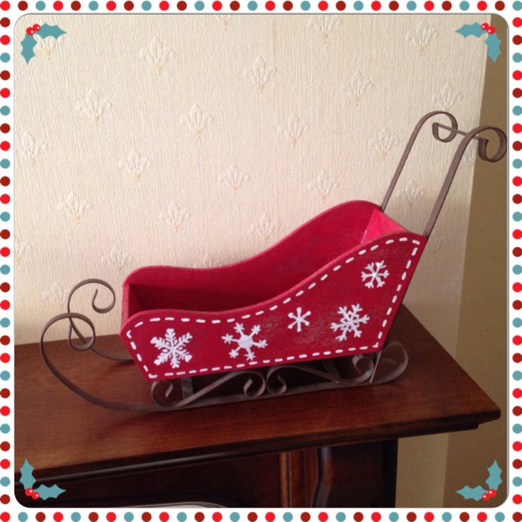 My christmas project to paint a wooden sleigh.