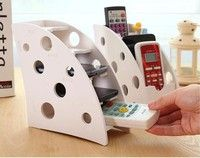 Wish | Remote Control VCR TV DVD Step Mobile Phone Caddy Holder Storage Organiser (Color: White)