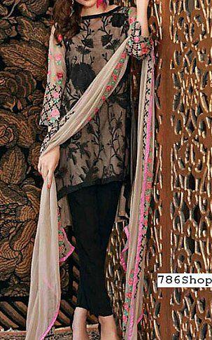 0efc998f9f Beige/Black Chiffon Suit | Buy Charizma Pakistani Dresses and Clothing  online in USA, UK