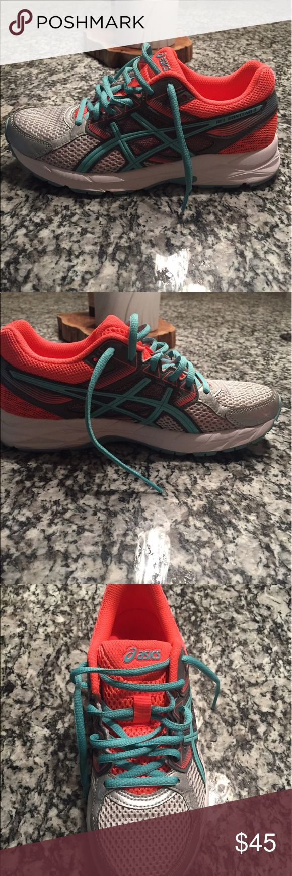 ASICS Women's GEL-Contend 3 Running Shoe ASICS Women's GEL-Contend 3 Running Shoe, size US 6.5. Only worn once prior to determining they were a tad too small. Great, comfortable shoe. Purchased at an outlet out of state so unable to return. Asics Shoes Athletic Shoes