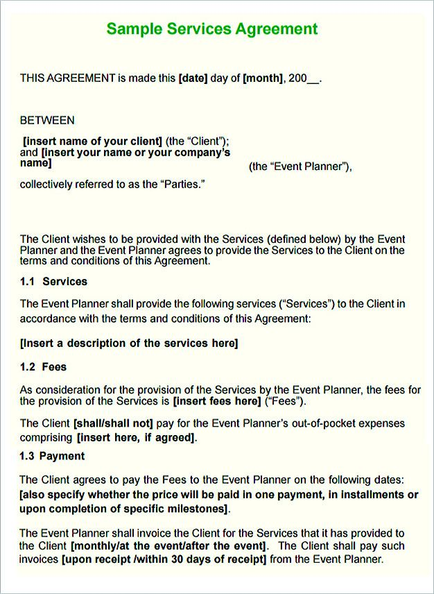 Service Contract Template And Important Terms To Write