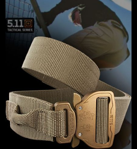 5.11 Maverick Assaulters Belt | Heinnie Haynes : a custom AustriAlpine buckle makes for a super strong, but easy to use belt.