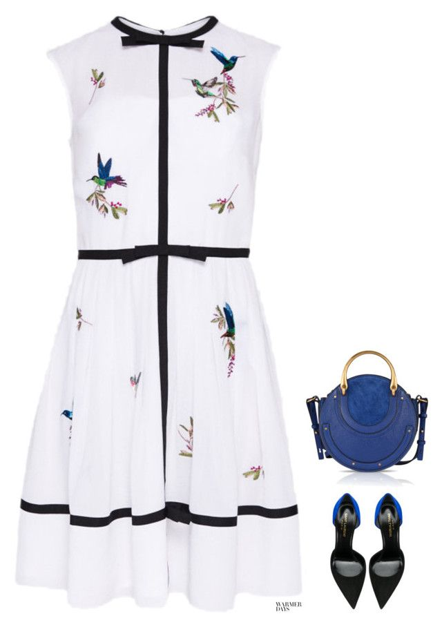 """""""Untitled #487"""" by anaalex ❤ liked on Polyvore featuring Highgrove, Yves Saint Laurent, Chloé and springdresses"""