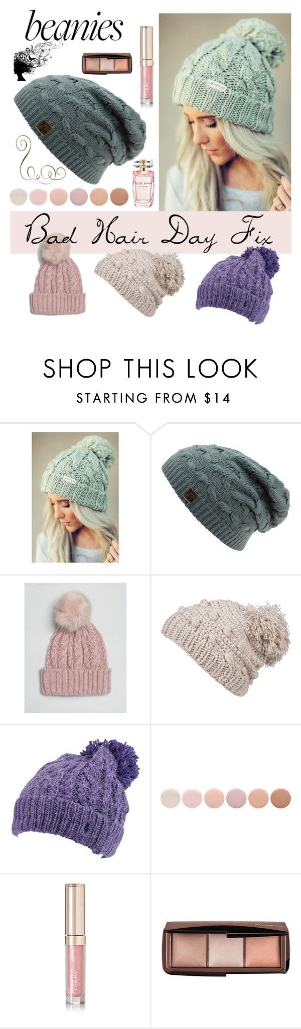 """Beanies -Bad Hair Day"" by arimagedesign ❤ liked on Polyvore featuring ASOS, prAna, Polo Ralph Lauren, Deborah Lippmann, By Terry, Elie Saab and beainies"